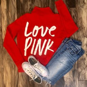 Victoria's Secret PINK quarter zip pullover.